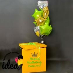 Коробка с сюрпризом Принцесса (золотая корона)
