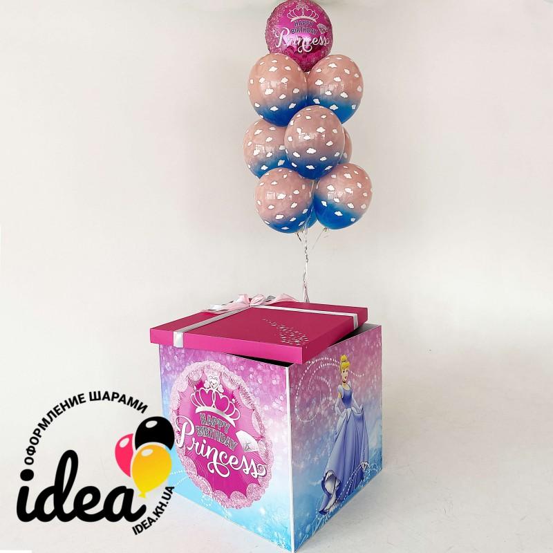 Коробка сюрприз Принцесса (полноцвет 4 стороны)