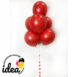 Букет гелиевые Стеклянные Красные  шары