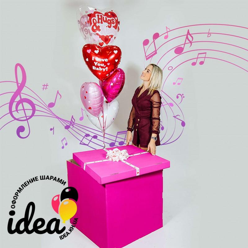 Музыкальная коробка с шарами