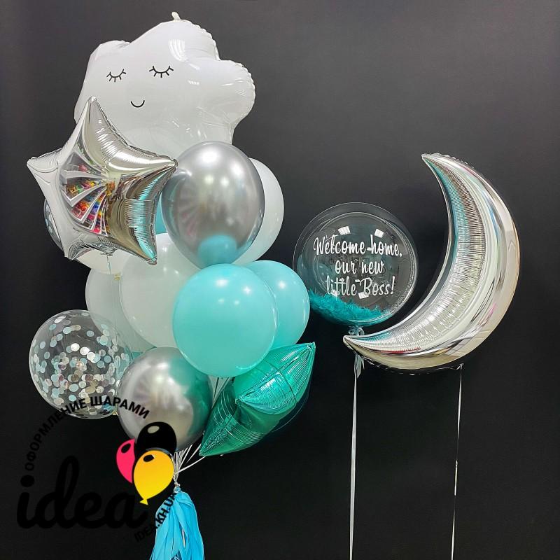 Набор гелиевых шаров Ждем дома малыша!