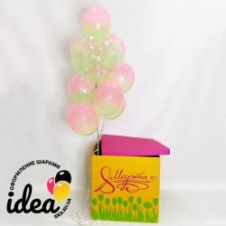 Коробка с шарами Восьмой день весны