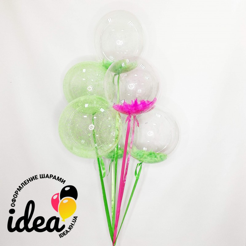 Букет гелиевых шариков Весенние баблсы