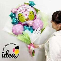 Крафт букет шаров Авокадо (девочка)