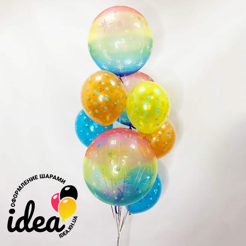 Букет гелиевых шаров скорость света