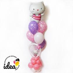 Букет гелиевых шаров Hello Kitty