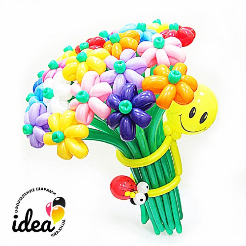 Цветы из шаров Букет Весенний
