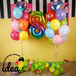 Комплект шаров на 8 Марта Лучший выбор