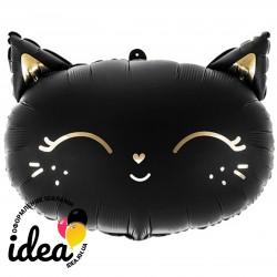 Шар с гелием Кошечка черная