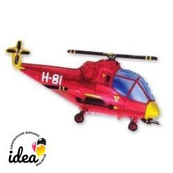 Шар с гелием Вертолет (красный) 95см