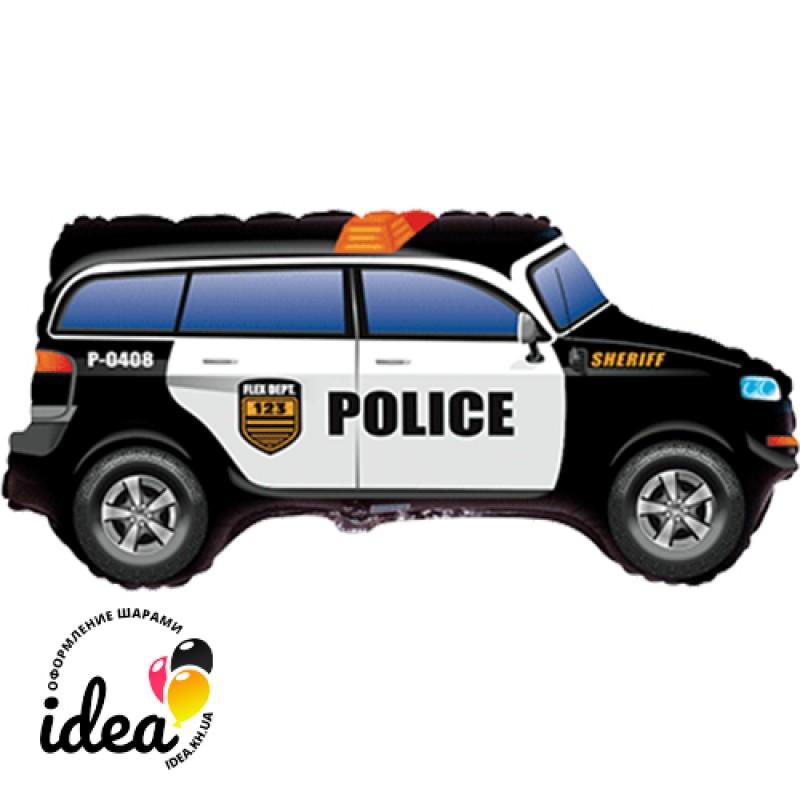 Шар с гелием Джип полиция 85см