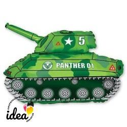 Шар с гелием Танк зеленый 80см