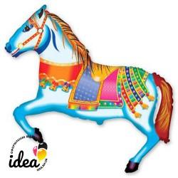 Шар с гелием Лошадь цирковая 103см