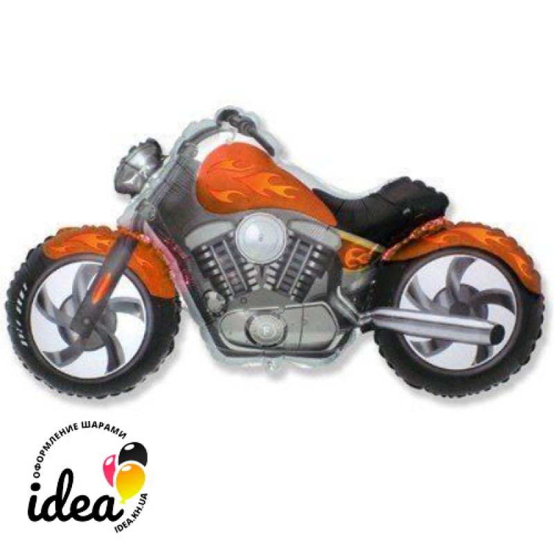 Шар с гелием Мотоцикл чоппер 112см