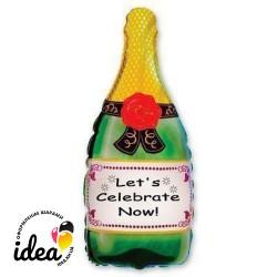 Шар с гелием Бутылка шампанского 80см