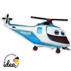 Шар с гелием Вертолет полиция 97см