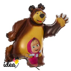 Шар с гелием Маша и медведь 93см