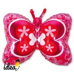 Шар с гелием Бабочка розовая 90см