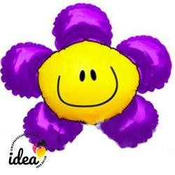 Шар с гелием Цветок фиолетовый 100см