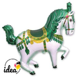 Шар с гелием Лошадь цирковая зеленая 97см