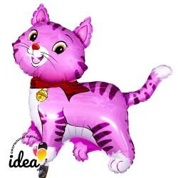 Шар с гелием Кошечка с бантом розовая 97см