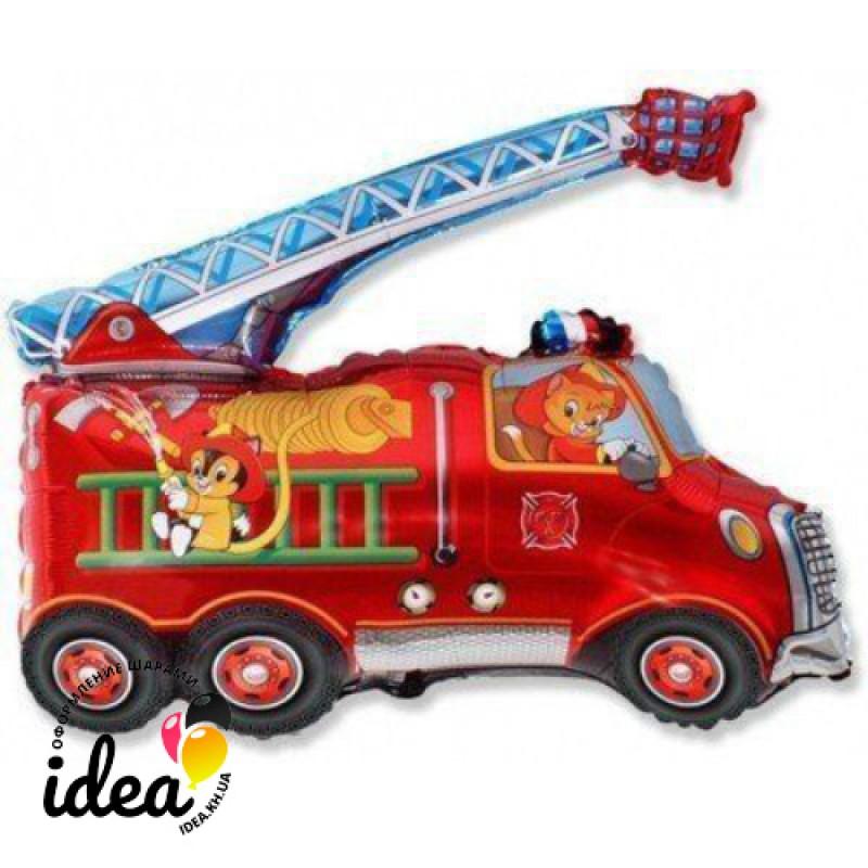 Шар с гелием Пожарная машина 74см