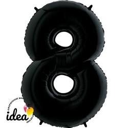 Шар «8» с гелием черный 100см