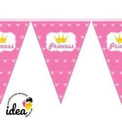 Флажки принцесса сердечки (200 см)