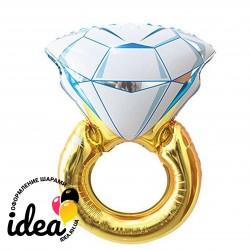 Шар с гелием Обручальное кольцо 84 см