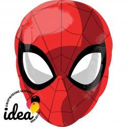 Шар с гелием человек паук голова 43см