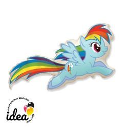 Шар с гелием Пони Rainbow dash 82см