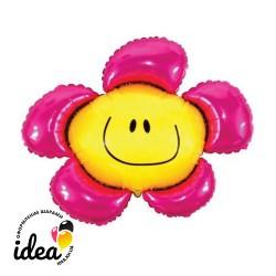 Шар с гелием Цветок малиновый 100см