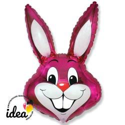 Шар с гелием Кролик розовый 92см