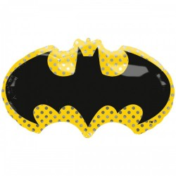 Шар с гелием бэтмен эмблема 68см