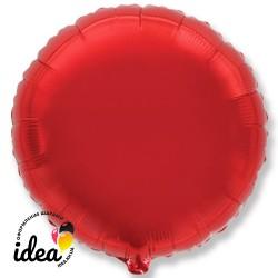 Шар с гелием круг красный  45см
