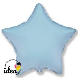 Шар с гелием звезда голубая 45см