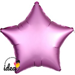 Шар с гелием звезда (сатин) фламинго 45см