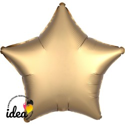 Шар с гелием звезда (сатин) золото 45см