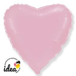 Шар с гелием сердце пастель розовое 45см