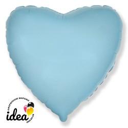 Шар с гелием сердце голубое 45см