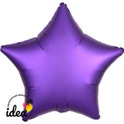 Шар с гелием звезда (сатин) фиолетовая 45см