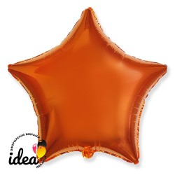 Шар с гелием звезда оранжевая 45см