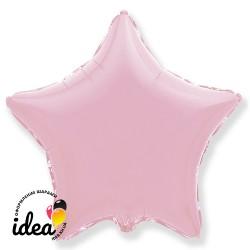 Шар с гелием звезда пастель розовая 45см