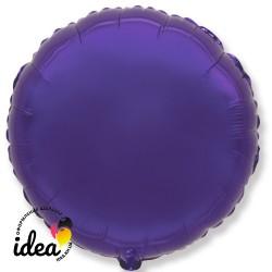 Шар с гелием круг фиолетовый 45см