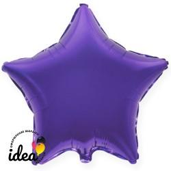Шар с гелием звезда фиолетовая 45см