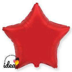 Шар с гелием звезда красная 45см