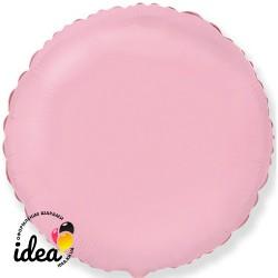 Шар с гелием круг пастель розовый 45см