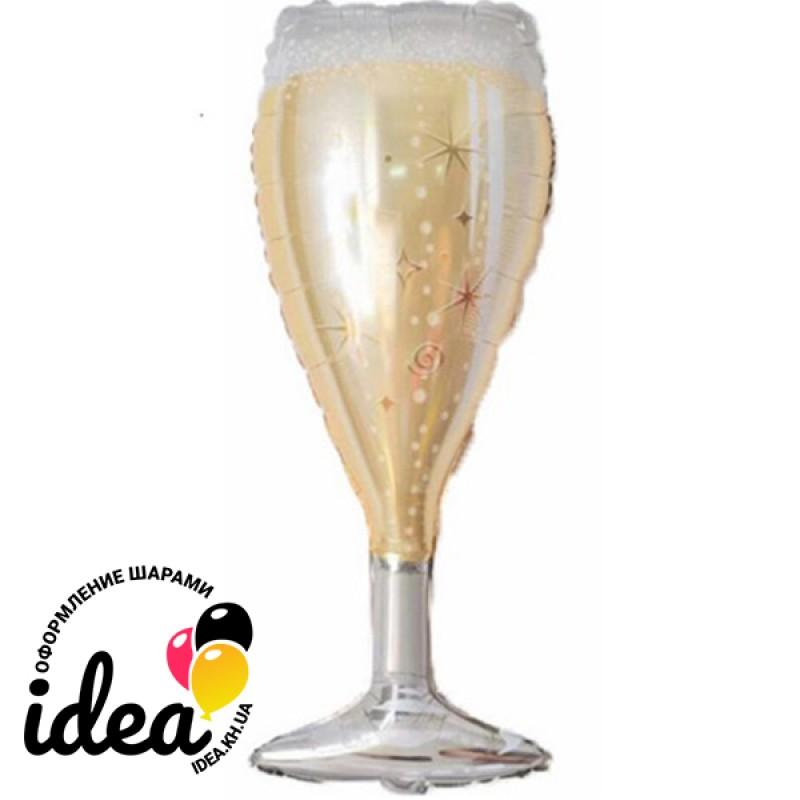 Шар с гелием Бокал шампанского  94см