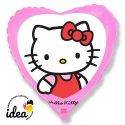 "Шар с гелием ""hello kitty на розовом"" 45см"