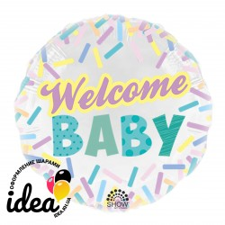 Шар с гелием  Welcome Baby 45см